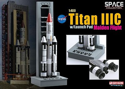 Dragon Wings TITAN IIIC with Launch Pad -- Diecast Model Spacecraft -- 1/400 scale -- #56341