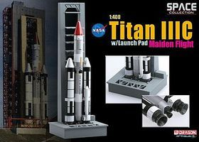 DGW TITAN IIIC with Launch Pad Diecast Model Spacecraft 1/400 scale #56341