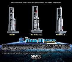 Dragon Wings Titan III Rockets with Pads -- Diecast Model Spacecraft -- 1/400 Scale -- #56395