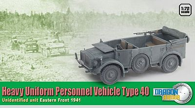 Dragon Armor Diecast Heavy Uniform Personnel V -- Diecast Model Personnel Carrier -- 1/72 Scale -- #60430