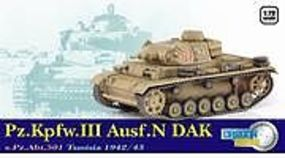 Dragon-Armor Pz.Kpfw.III Ausf.N DAK Plastic Model Military Vehicle 1/72 scale #60601