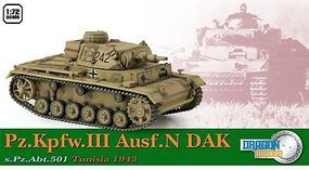 Dragon-Armor Pz.Kpfw.II Ausf.N DAK Plastic Model Military Vehicle 1/72 scale #60603
