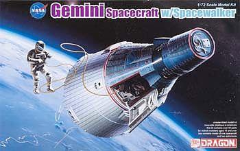 DML Gemini Spacecraft w/Spacewalker Space Program Plastic Model Kit 1/72 Scale #11013