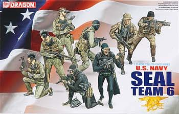 Dragon Models USN SEAL Team 6 (8) -- Plastic Model Military Figure -- 1/35 Scale -- #3028