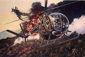 DML OH6A Cayuse Armed Scout Helicopter with Crew Plastic Model Helicopter Kit 1/35 #3310