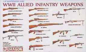 DML WWII Allied Infantry Weapons Set Plastic Model Military Diorama 1/35 Scale #3815