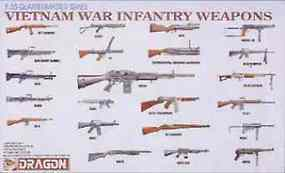 DML Vietnam War Infantry Weapons Plastic Model Military Diorama 1/35 Scale #3818