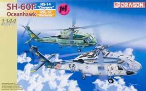 DML Seahawk SH-60F+SH-60I VIP (2) Plastic Model Helicopter Kit 1/144 Scale #4601