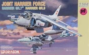 DML RAF Harrier Gr7/RN Harrier Gr9 (2) Plastic Model Airplane Kit 1/144 Scale #4603