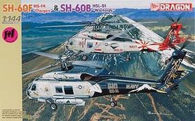 DML SH-60F HS-14 Chargers/SH-60B HSL-51 Warlords Plastic Model Helicopter Kit 1/144 Scale #4621