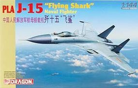 DML PLA J15 Flying Shark Naval Fighter Plastic Model Airplane Kit 1/144 Scale #4627