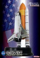 DML Visible Space Shuttle Discovery w/Solid Rocket Booster Plastic Model Airplane 1/144 #47403