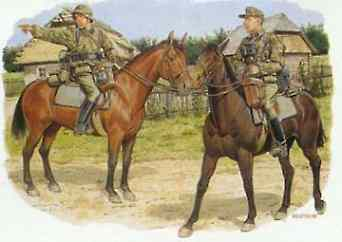 Dragon Models 8th SS Cavalry Div. Florian Geyer -- Plastic Model Military Figure Kit -- 1/35 Scale -- #6046