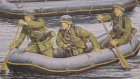 DML German Sturmpionier w/Assault Raft Plastic Model Military Figure 1/35 Scale #6076