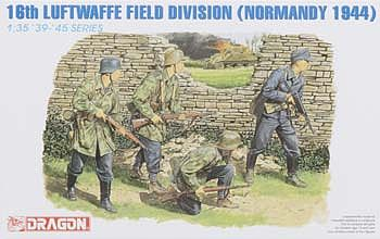 Dragon Models Luft. Field Div Normandy 1944 -- Plastic Model Military Figure -- 1/35 Scale -- #6084