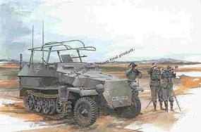 DML Sd.Kfz.251/6 Ausf.C Command Vehicle Plastic Model Military Vehicle Kit 1/35 Scale #6206