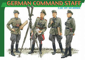 DML GERMAN COMMAND STAFF Plastic Model Military Figure 1/35 Scale #6213