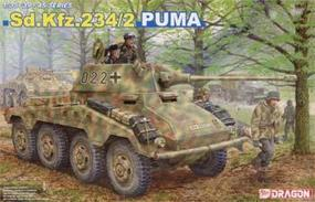 DML SdKfz 234/2 Puma Tank Plastic Model Tank Kit 1/35 Scale #6256