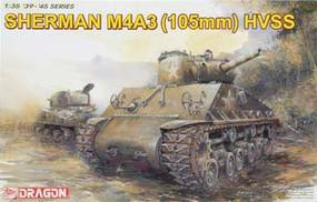 DML Sherman M4A3 with 105mm Howitzer Gun & HVSS Plastic Model Military Kit 1/35 Scale #6354