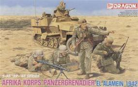 DML German Afrika Korps Infantry El Alamein Plastic Model Military Figure Kit 1/35 Scale #6389