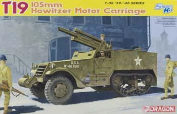 Dragon Models T19 105mm Howitzer Motor Carriage -- Plastic Model Military Vehicle Kit -- 1/35 Scale -- #6496