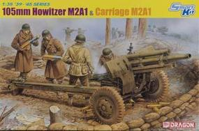 DML 105mm Howitzer M2A1 and Carriage M2A1 w/Crew Plastic Model Artillery Kit 1/35 Scale #6499