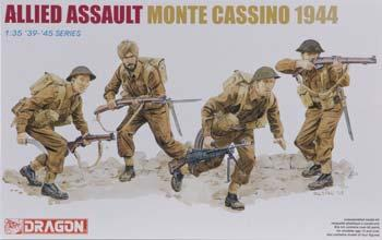 Dragon Models Allied Assault Monte Cassino 1944 -- Plastic Model Military Figure -- 1/35 Scale -- #6515