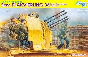 DML 2cm FlaK 38 Late with 4 Crew Plastic Model Military Diorama 1/35 Scale #6547