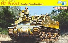 DML M7 Priest Early Production Smart Kit Plastic Model Tank Kit 1/35 Scale #6627