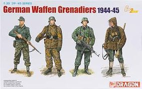 DML German Waffen Grenadiers 1944-45 (4) Plastic Model Military Figure Kit 1/35 Scale #6704