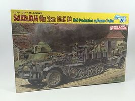 DML SdKfz 10/4 with 2cm Mod 1940 Flak 30 Gun Plastic Model Military Vehicle Kit 1/35 Scale #671