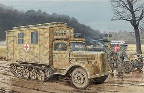 DML Sd.Kfz.3 Maultier Ambulance Plastic Model Military Ambulance Kit 1/35 Scale #6766