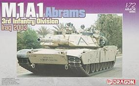 DML M1A1 Abrams 3rd Infntry Div 1 Plastic Model Military Tank Kit 1/72 Scale #7215