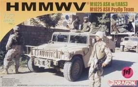 DML HMMWV M1025 ASK w/LRAS3 & w/Loudspeaker (2) Plastic Model Hummer Kit 1/72 Scale #7245