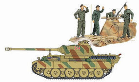 DML Panther G with Tank Crew Plastic Model Military Figure Kit 1/72 Scale #7363