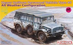 DML Heavy Uniform Type 40 Personnel Vehicle Plastic Model Personnel Vehicle 1/72 Scale #7421