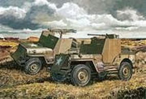 DML US Armored 4x4 Jeep (2 Kits) Plastic Model Military Jeep Kit 1/72 Scale #7423