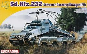 DML Sd.Kfz.232 Schwerer Panzerspahwagen Plastic Model Armored Vehicle 1/72 Scale #7429