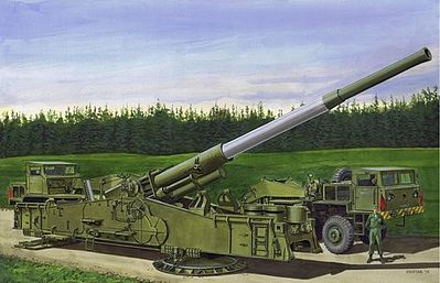 Dragon Models M65 Atomic Annie Gun Heavy Motorized 280mm -- Plastic Model Military Vehicle -- 1/72 -- #7484