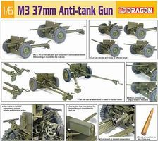 DML US M3 37mm Anti-Tank Gun Plastic Model Artillery Kit 1/6 Scale #75029