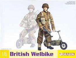 DML British Welbike Plastic Model Military Motorcycle 1/6 Scale #75034
