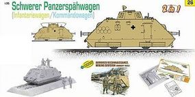 DML Schwerer PzSpahWg Armored Railway Car w/Crew Plastic Model Tank Kit 1/35 Scale #9126