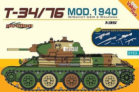 DML T34/76 Mod 1940 Soviet Tank Plastic Model Military Vehicle Kit 1/35 Scale #9153