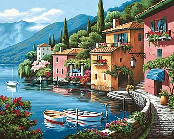 Dimensions Lakeside Village -- Paint By Number Kit -- #73-91425