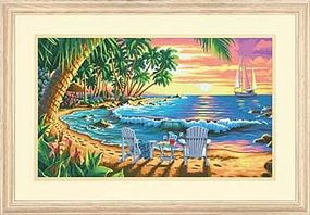 Dimensions Sunset Beach Paint By Number Kit #73-91444