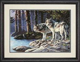 Dimensions Gray Wolves Paint By Number Kit #73-91445