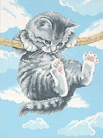 Dimensions Hang on Kitty Paint By Number Kit #91226
