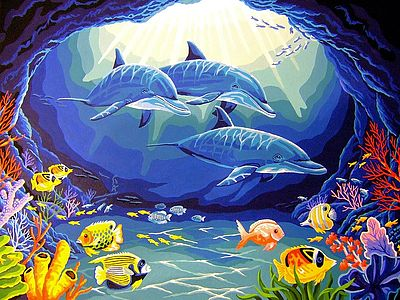 Dimensions Deep Sea Paradise -- Paint By Number Kit -- #91302