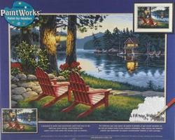 Dimensions Adirondack Evening Paint By Number Kit #91357