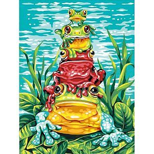 Dimensions Frog Pile-Up -- Paint By Number Kit -- #91421